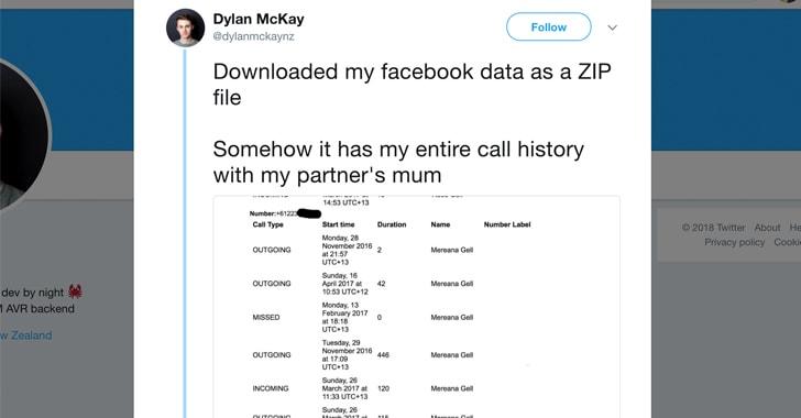 Facebook podría estar recolectando tu historial de llamadas