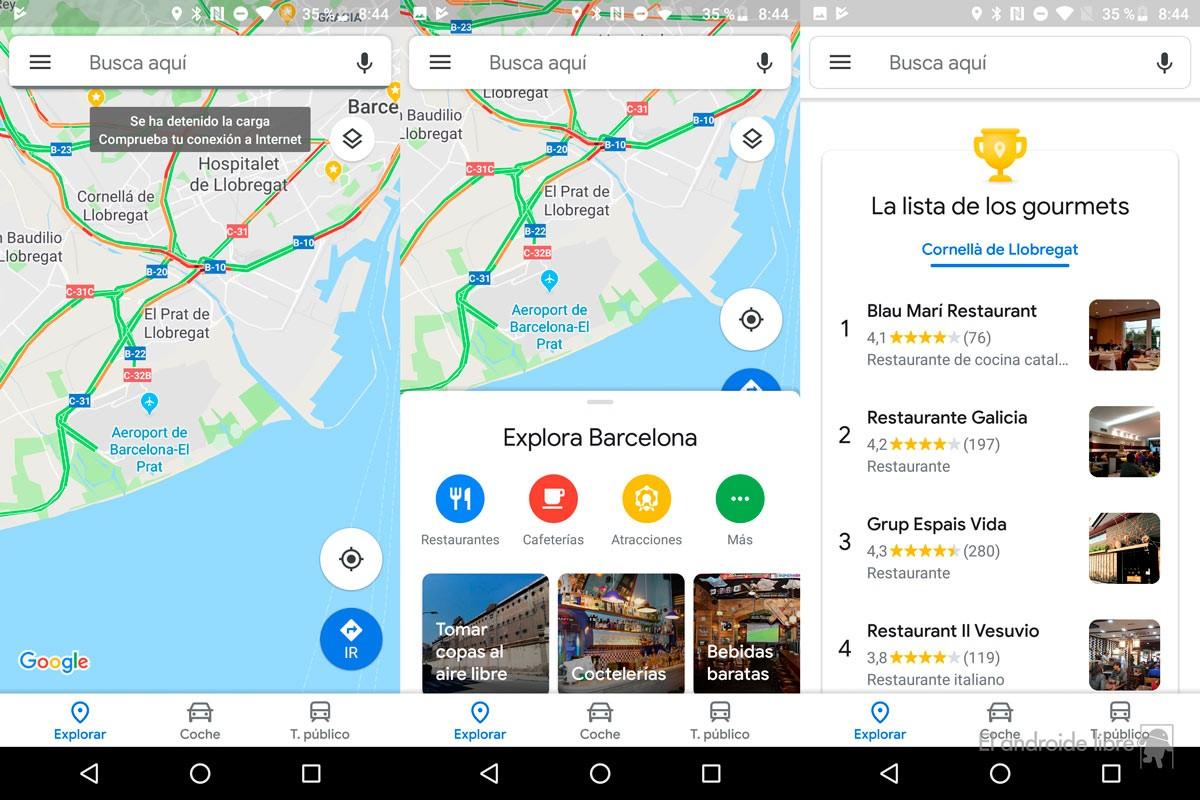 Google Maps se rediseña con Material Design