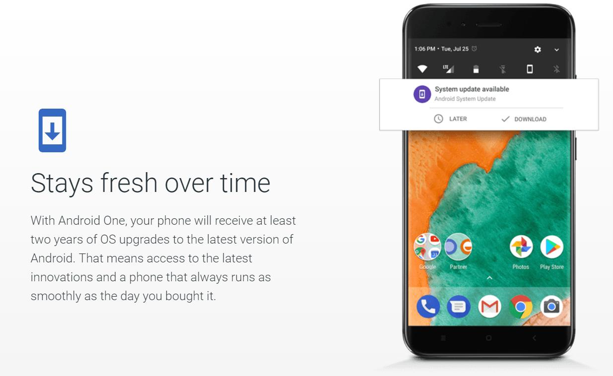 Android One ya no garantiza dos años de actualizaciones