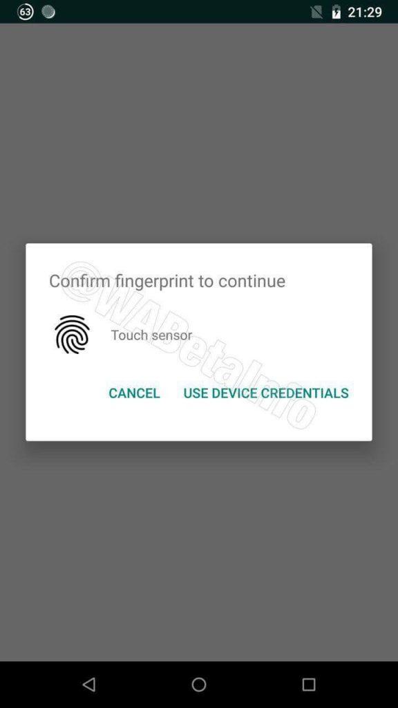 Whatsapp tendrá protección por huella dactilar