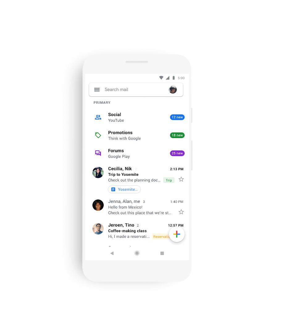 Gmail Material Desing 2