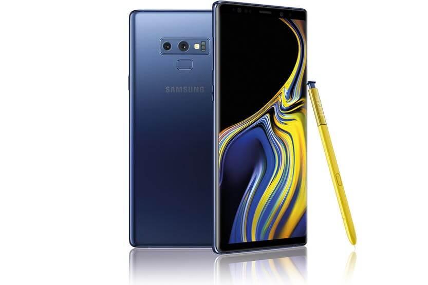 actualización Samsung Galaxy Note 9