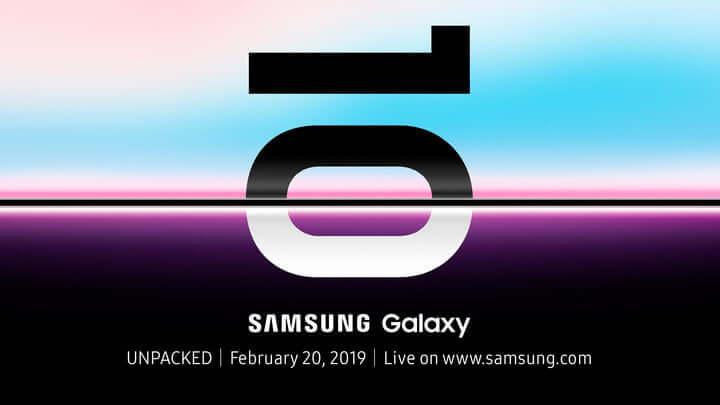teléfono plegable Samsung el 20 de febrero