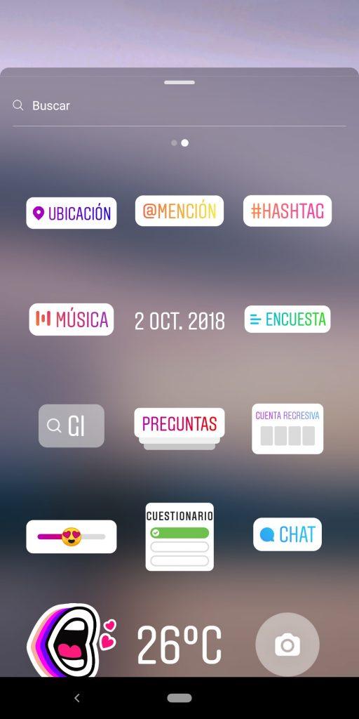 selección del sticker de música
