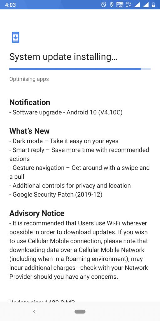 Android 10 Nokia 7 Plus