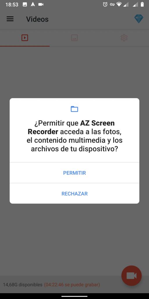 permisos para almacenar archivos
