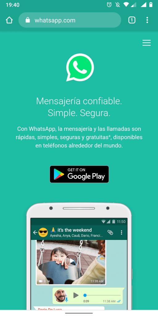 Whatsapp Web en Android
