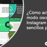 activar modo oscuro en instagram
