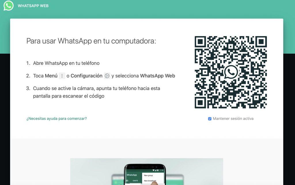 Whatsapp Web código QR