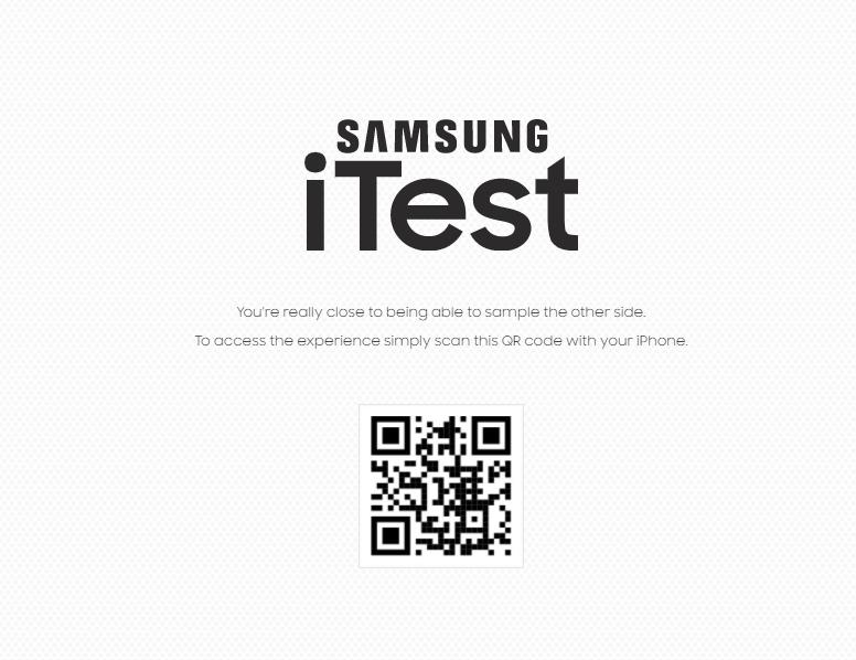 Android de Samsung en un Iphone
