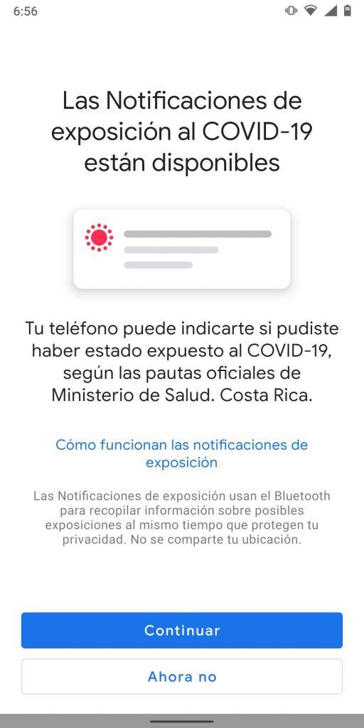 notificaciones de exposición Costa Rica