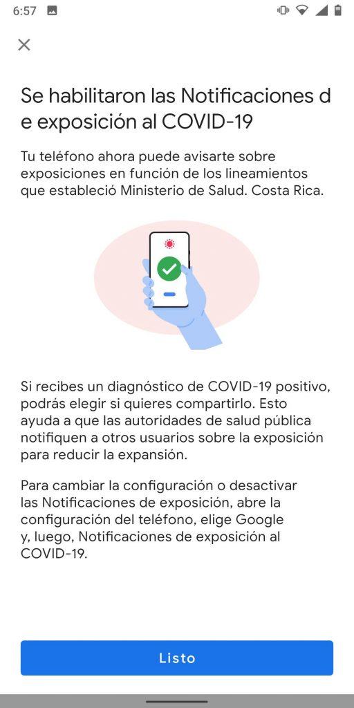 notificaciones de exposición Ministerio de Salud